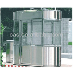 Access control car parking barrier steel house & mobile sentry box & steel sentry box house for car parking system