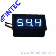 Electrical instrument DC 0~100V mini Voltage Meters LED voltmeter blue color J00108