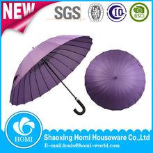 2015 Homi 23inch 24ribs elegant fashion purple unique straight rain umbrella for gift