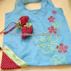 2013 high quality strawberry folding shopping bag