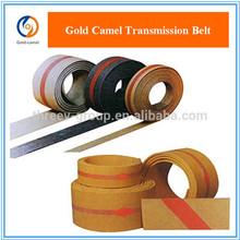 Black flat transmission belt with white fabric good price round edge