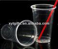 desechables de plástico taza con tapa y paja de venta al por mayor