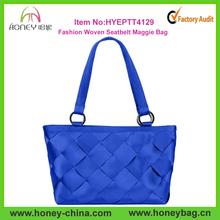 Hot Selling Handmade Popular Durable Woven Fashion Seatbelt Bags
