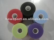 underwrap multicolor elastic pe sports tennis vollyball leg prewrap TEARABLE wholesale underwrap foam tape roll CE/ISO/FDA (SY)