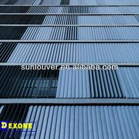 Aluminum louver   Aerofoil movable exterior vertical louvers