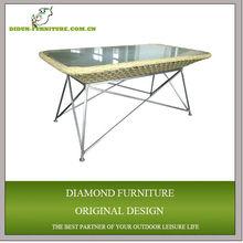 stainless steel wicker tea table set