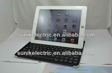 2013 new arrival black&silver bluetooth keyboard for ipad 2 and 3 generation