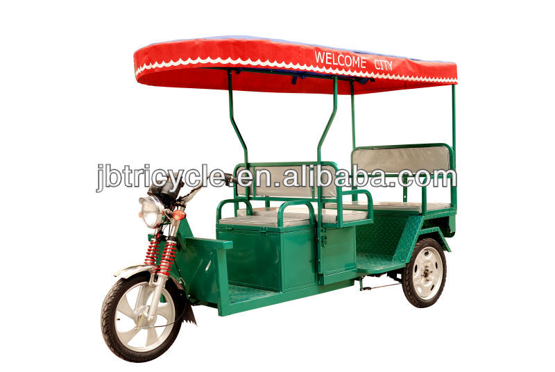48V 800W differential brushless motor battery operated rickshaw 3 wheel motorcycle for sale JB300K-02L