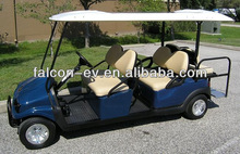 All Aluminum Falcon Brand 4 Passenger Electric Solar Golf Cart with Cargo Box-USA Certified Factory