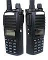أحدث vhf uhf 136-174mhz 400-520mhz 5w 128ch الإرسال والاستقبال اللاسلكية baofeng bf-uv82 الأسلاك استنساخ مع لوحة مفاتيح