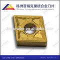 De corte de carburo inserta/cortador de acero de herramientas tipo cnmg de zhuzhou