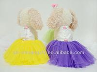 Coloful Wedding dress pet clothes