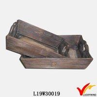 Special design decorative antique wood tea tray for garden