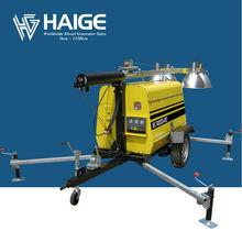 4x1000w flood lights lighting tower trailer mounted