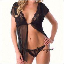 Nighty hot lingerie for woman wear western style sexy underwear