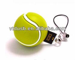 Tennis ball usb flash drive table tennis bat shaped pvc usb flash pendrives memory usb stick promotion gift