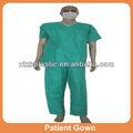 descartáveis não tecidos hospital roupa vestido de paciente