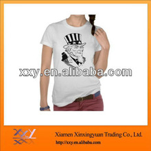 White Womens Tshirt With Digital Printing On Sale Tee