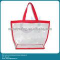 2013 dame de couleur vive transparente PVC sac à main