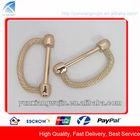 CD1207 Fashion Gold Metal Decorative D Ring for Handbags