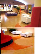 PVC linoleum flooring covering rolling
