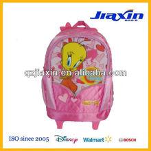 Small cute cartoon children' trolley travelling bag for girls