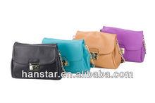 New Korean Style Fake Leather Shoulder Bag (Black)