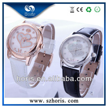 Swiss stainless steel gife love watches genuine leather