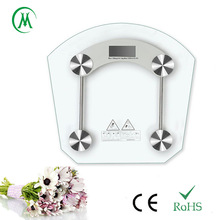 Slim design electronic bathroom scale with lcd display,8mm tempered glass