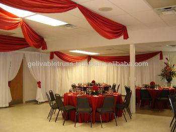 aluminum wedding wall drapery stand.aluminum curtain poles