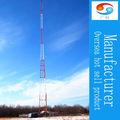 Tres patas de ángulo de acero galvanizado de la torre de celosía de auto- apoyo a la torre triangular de la línea de transmisión de ángulo de acero de la torre