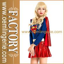 de alta calidad sexy traje de superhéroe con manto