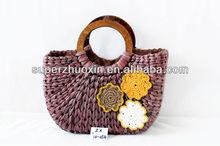 2015 The fashion leisure bag corn straw beach bag, for beach bag