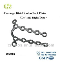 Distal Radius Back Plates (Left and Right Type)/ Metal Bone Plate Range
