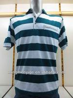 High Quality fashional double mercerized cotton stripe men's T-shirts clothes