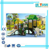 Plastic combination slide and swing outdoor equipment