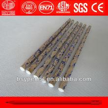 natural wood hot foil stamping pencils