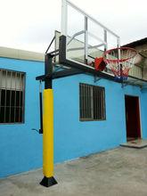 single arm steel plate basketball backstop