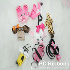 Animal ribbon hair bows,cute hair bows wit