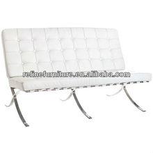 italian leather modern barcelona sofa white RF-S202A