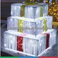 new 3d أدى الزخرفية، عيد الميلاد هدية مربع، عزر كريستال النحت، الفنون والحرف الخفيفة