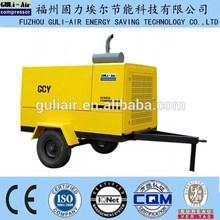 10bar portable configuration srew type diesel engine driven screw air compressor