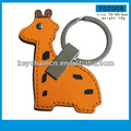 y02006 promontional cuir keychain animal