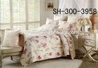 3d pretty flower microfiber used hotel bedspreads