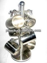Metal suction cup shelf rack
