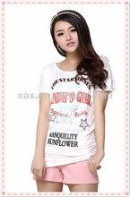 100% cotton el ladies Plain t shirt / white t shirts