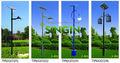 proteção do meio ambiente galvanizado e pó revestido de rua luz solar pólo