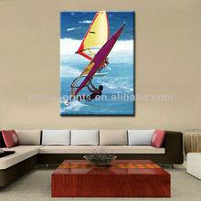 Frameless Surfing Canvas Printing For Decor