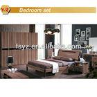 wood double bed design/mdf bedroom set