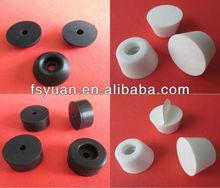 "34 19 1 3/8"" mm tapered anti slip round low temperature heat resistant black taper rubber feet"